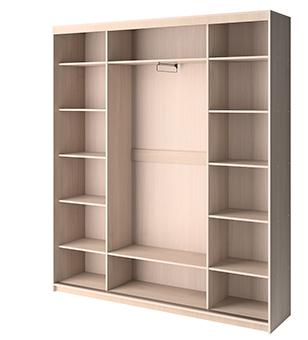 Четырехдверный шкаф-купе 3 Премиум выгодно от VittaMebel.ru