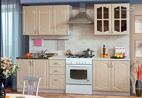Кухня (Алстром) Бежевый выгодно от VittaMebel.ru