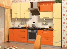 Кухня (Алстром) Ваниль и Оранжевый - VittaMebel.ru
