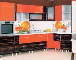 Кухня (Алстром) Апельсин и Зебрано - VittaMebel.ru