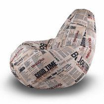 Кресло-мешок Люкс L Фреш Газета В7 - VittaMebel.ru