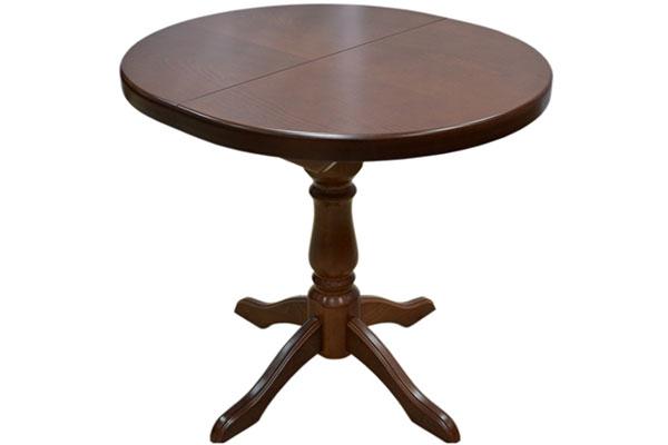 Стол раздвижной овальный на одной ножке 800*900/1200 мм. выгодно от VittaMebel.ru