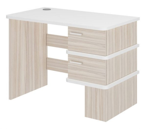 Компьютерный стол СД-15С (Карамель/белый жемчуг) выгодно от VittaMebel.ru