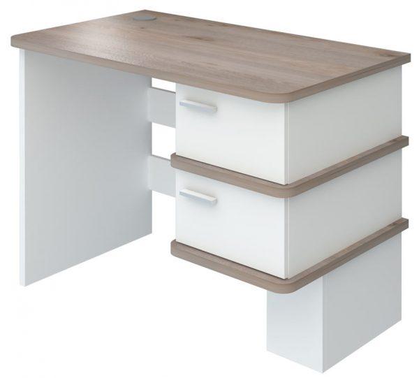 Компьютерный стол СД-15С (Белый жемчуг/нельсон) выгодно от VittaMebel.ru