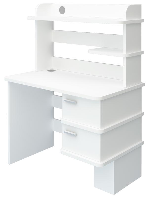 Компьютерный стол СД-15 (Белый жемчуг) выгодно от VittaMebel.ru