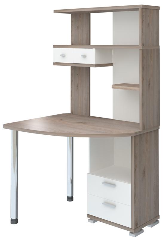 Компьютерный стол СК-20 (Нельсон/Белый жемчуг) выгодно от VittaMebel.ru