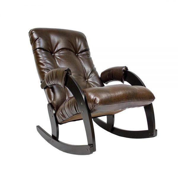 Кресло-качалка МИ Модель 67, Венге, к/з Antik crocodile выгодно от VittaMebel.ru