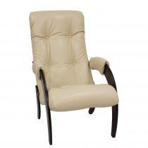 Кресло для отдыха МИ Модель 61, Венге, к/з Polaris Beige - VittaMebel.ru