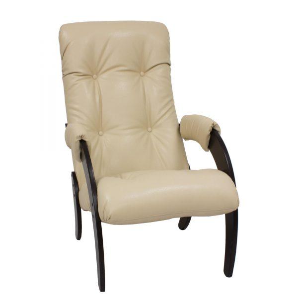 Кресло для отдыха МИ Модель 61, Венге, к/з Polaris Beige выгодно от VittaMebel.ru