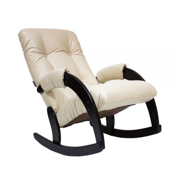 Кресло-качалка МИ Модель 67, Венге, к/з Polaris Beige выгодно от VittaMebel.ru