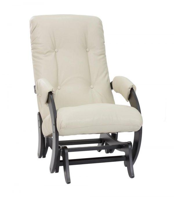 Кресло-качалка глайдер МИ Модель 68, Венге, к/з Polaris Beige выгодно от VittaMebel.ru