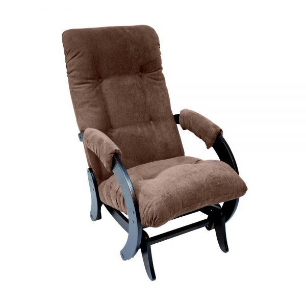 Кресло-качалка глайдер МИ Модель 68, Венге, ткань Verona Brown выгодно от VittaMebel.ru