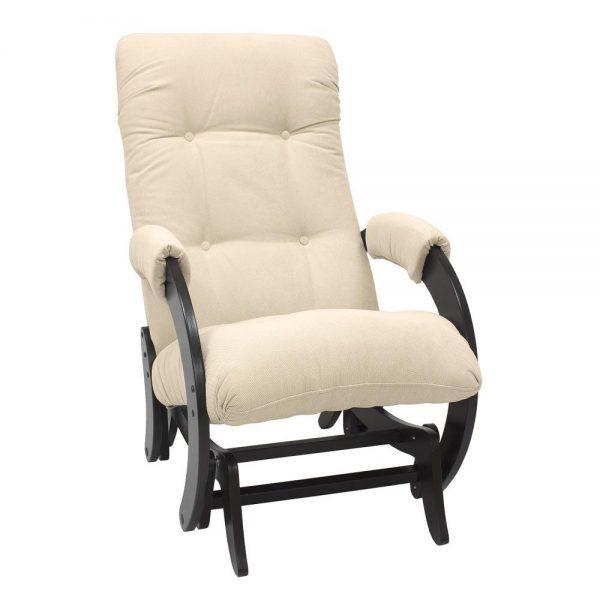 Кресло-качалка глайдер МИ Модель 68, Венге, ткань Verona Vanilla выгодно от VittaMebel.ru
