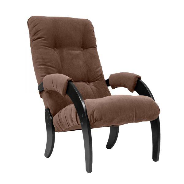 Кресло для отдыха МИ Модель 61, Венге, ткань Verona Brown выгодно от VittaMebel.ru