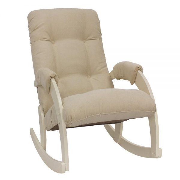 Кресло-качалка МИ Модель 67, Дуб шампань, ткань Verona Vanilla выгодно от VittaMebel.ru
