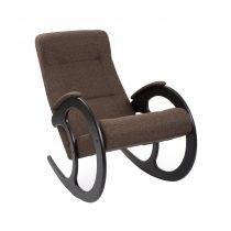 Кресло-качалка МИ Модель 3 венге, Венге, ткань Malta 15 А - VittaMebel.ru