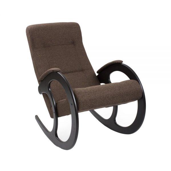Кресло-качалка МИ Модель 3 венге, Венге, ткань Malta 15 А выгодно от VittaMebel.ru