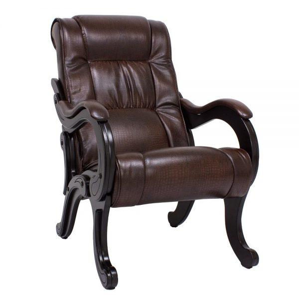 Кресло для отдыха МИ Модель 71 венге, Венге, к/з Antik crocodile выгодно от VittaMebel.ru