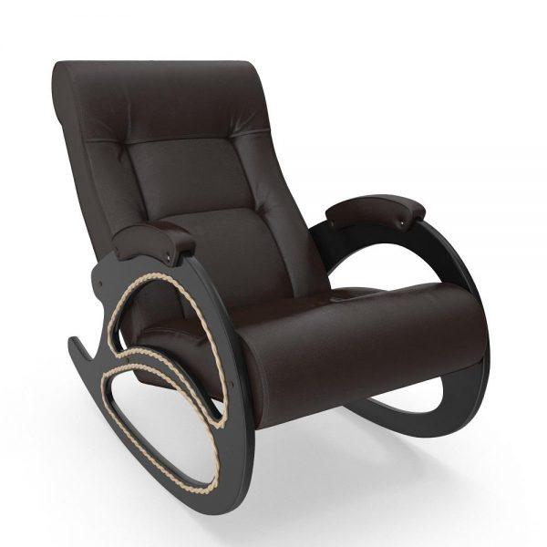 Кресло-качалка МИ Модель 4 венге, Венге, к/з Oregon perlamutr 120 выгодно от VittaMebel.ru