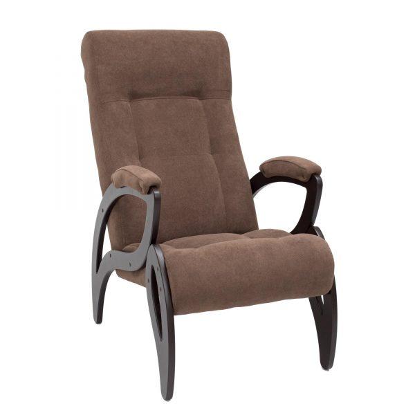 Кресло для отдыха МИ Модель 51 венге, Венге, ткань Verona Brown выгодно от VittaMebel.ru