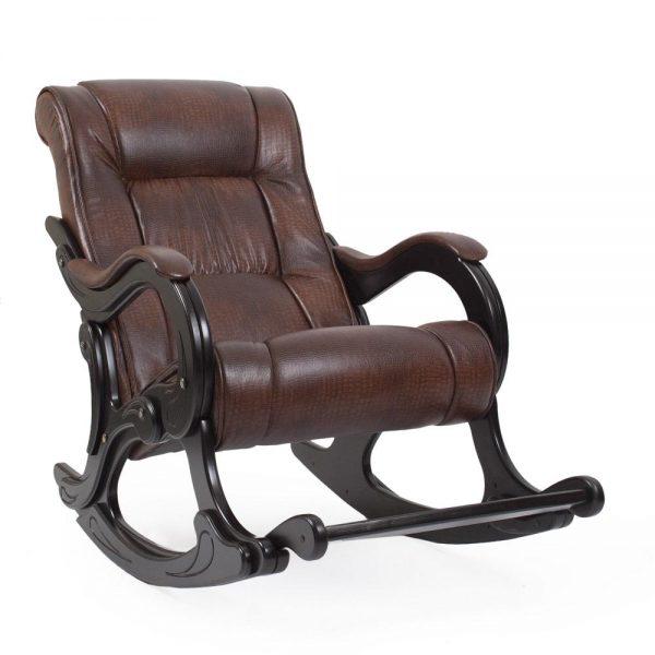 Кресло-качалка МИ Модель 77 венге, Венге, к/з Antik crocodile выгодно от VittaMebel.ru