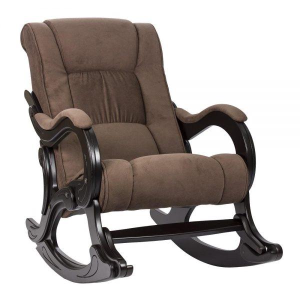 Кресло-качалка МИ Модель 77 венге, Венге, ткань Verona Brown выгодно от VittaMebel.ru