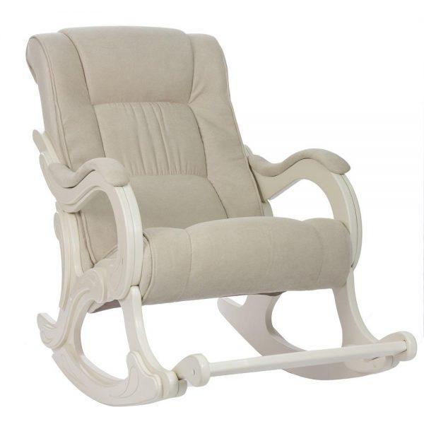 Кресло-качалка МИ Модель 77 дуб шампань, Дуб шампань, ткань Verona Vanilla выгодно от VittaMebel.ru