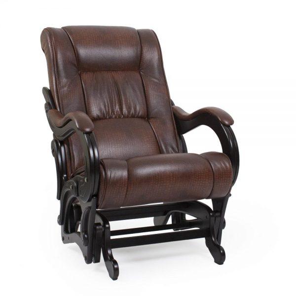 Кресло-качалка глайдер МИ Модель 78 венге, Венге, к/з Antik crocodile выгодно от VittaMebel.ru