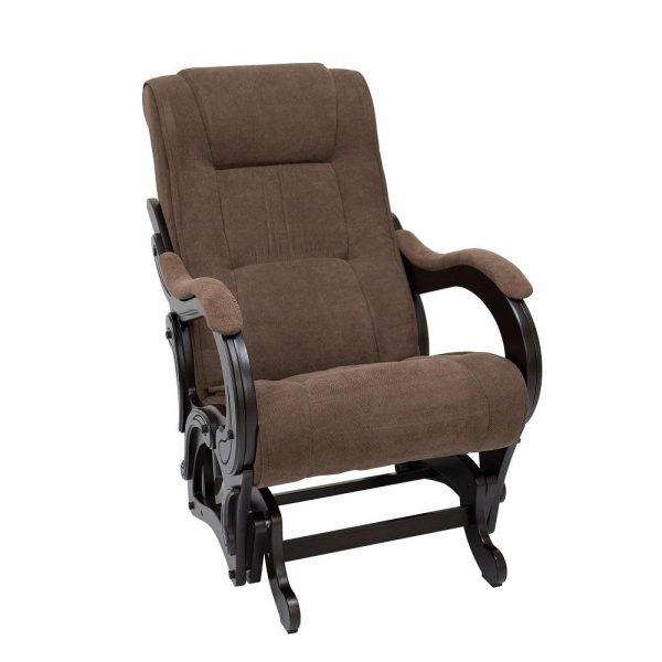 Кресло-качалка глайдер МИ Модель 78 венге, Венге, ткань Verona Brown выгодно от VittaMebel.ru
