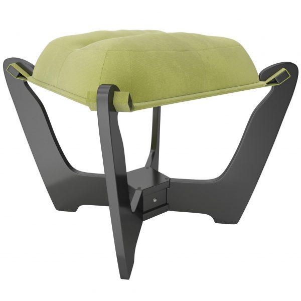 Пуф МИ Модель 11.2 венге, Венге, ткань Verona Apple Green выгодно от VittaMebel.ru