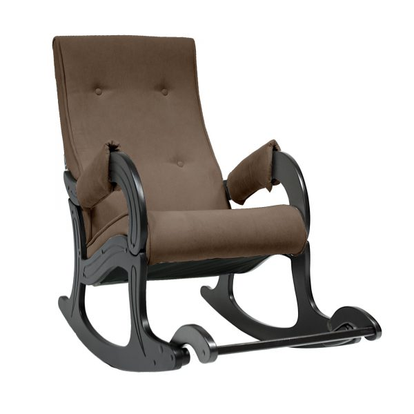 Кресло-качалка МИ Модель 707, Венге, ткань Verona Brown выгодно от VittaMebel.ru