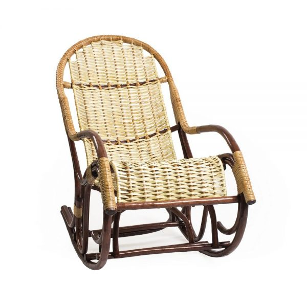 Кресло-качалка Усмань, орех выгодно от VittaMebel.ru