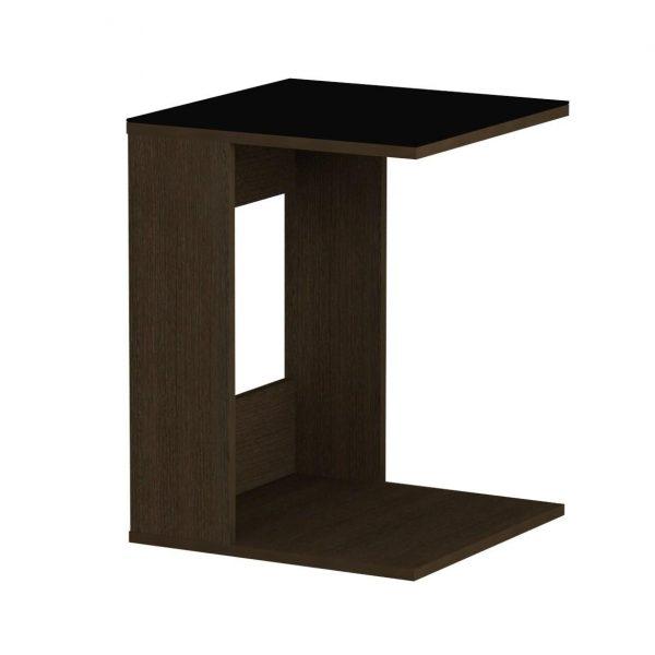 Стол журнальный LS 731, 02.01 (корпус-венге,стекло-черный) выгодно от VittaMebel.ru
