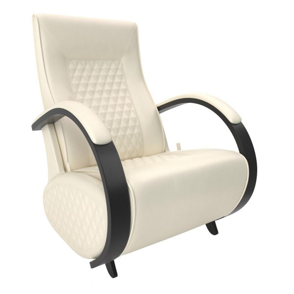 Кресло-глайдер МИ Модель Balance 3 с накладками, Венге/шпон, к/з Dundi 112 выгодно от VittaMebel.ru