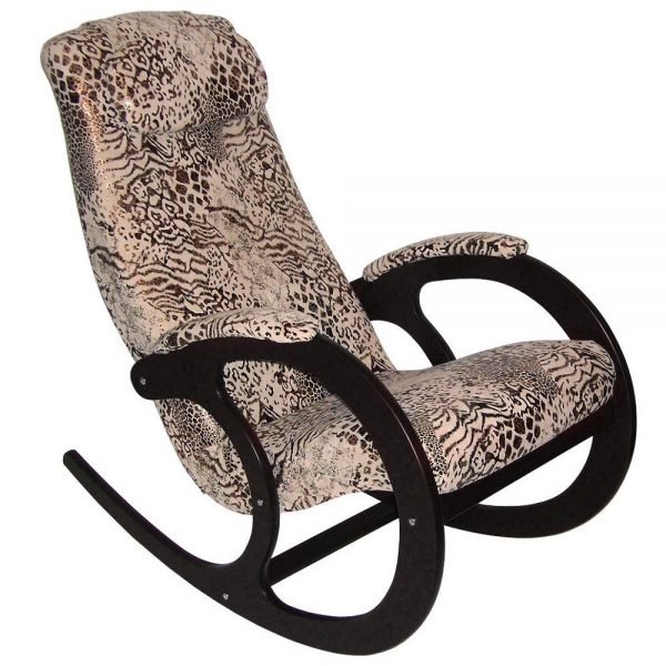 Кресло-качалка Блюз-2, МИ венге, леопард, венге, леопард выгодно от VittaMebel.ru