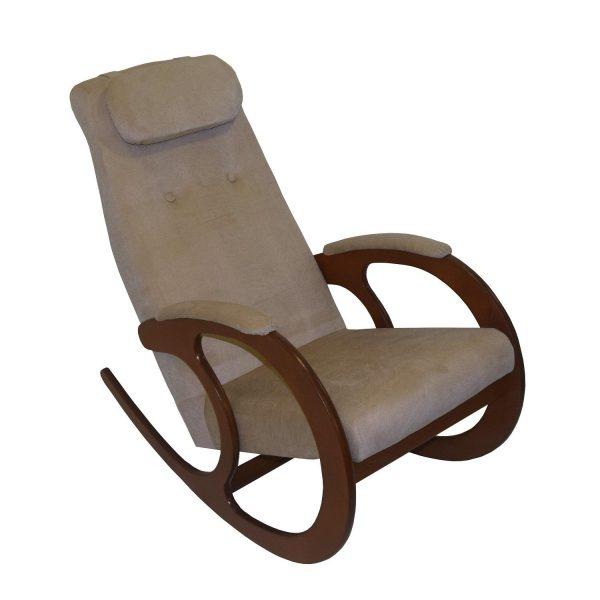 Кресло-качалка Блюз-1, МИ орех, орех, кофе с молоком выгодно от VittaMebel.ru