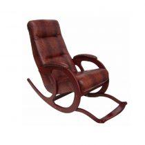 Кресло-качалка Блюз-5 с подножкой, МИ орех, крокодил, орех, крокодил - VittaMebel.ru