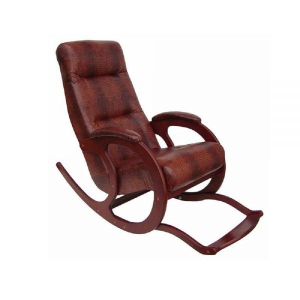 Кресло-качалка Блюз-5 с подножкой, МИ орех, крокодил выгодно от VittaMebel.ru