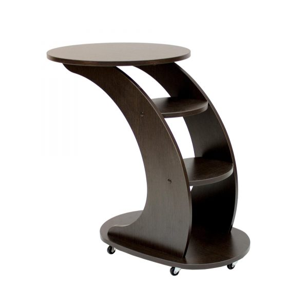 Подкатной столик МИ Стелс, Венге выгодно от VittaMebel.ru