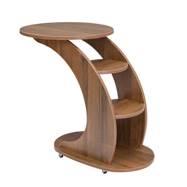Подкатной столик МИ Стелс, Орех выгодно от VittaMebel.ru