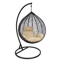 Подвесное кресло LESET ALTAR BLACK МИ, каркас Чёрный, подушка Кофейная - VittaMebel.ru