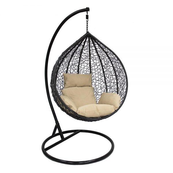 Подвесное кресло LESET ALTAR BLACK МИ, каркас Чёрный, подушка Кофейная выгодно от VittaMebel.ru