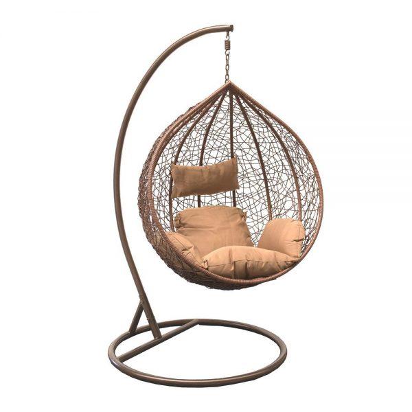Подвесное кресло LESET ALTAR BROWN МИ, каркас Коричневый, подушка Коричневая выгодно от VittaMebel.ru