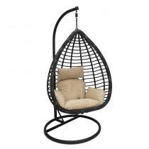 Подвесное кресло LESET EAGLE BLACK МИ, каркас Черный, подушка Зелёная - VittaMebel.ru