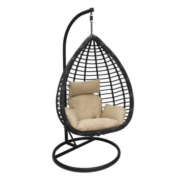 Подвесное кресло LESET EAGLE BLACK МИ, каркас Черный, подушка Зелёная выгодно от VittaMebel.ru