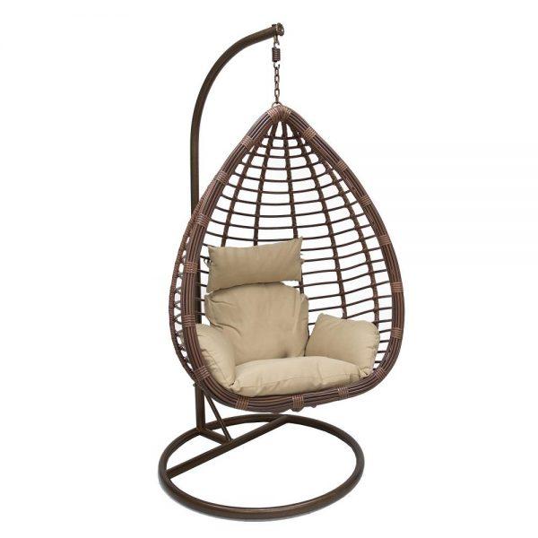 Подвесное кресло LESET EAGLE BRОWN МИ, каркас Коричневый, подушка Кофейная выгодно от VittaMebel.ru