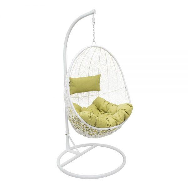 Подвесное кресло LESET SAILS WHITE МИ, каркас Белый, подушка Зелёная выгодно от VittaMebel.ru