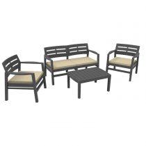 Набор мебели из пластика Java, JAV04CCA, с подушками - VittaMebel.ru