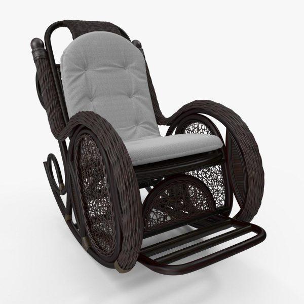 Кресло-качалка ALEXA с подушкой выгодно от VittaMebel.ru