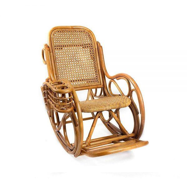 Кресло-качалка CORAL с подушкой выгодно от VittaMebel.ru